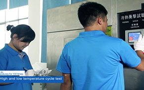 High and low temperature cycle test for material